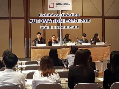 Exhibitor Briefing Automation Expo 2019